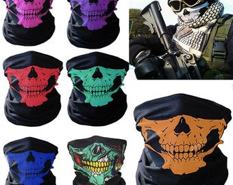 buy 2 get free 1 SAVAGES movie half skull bandana mask biker airsoft paintball neck gaitor ski snow board rave Skull Bandana Bike