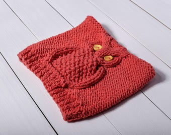 Baby owl hat Owl hat Orange baby hat Baby girl hat Baby boy hat Baby photo prop Baby owl beanie Owl Baby shower Holiday gift Animal hat