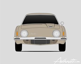 Studebaker Avanti Poster // Raymond Loewy // Classic Car // Studebaker Art // Studebaker Print