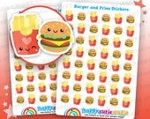 48 Cute Burger and Fries/Fast Food/McDonalds Planner Stickers, Filofax, Erin Condren, Happy Planner,  Kawaii, Cute Sticker, UK