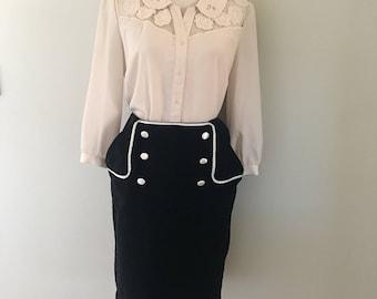 Wiggle Skirt (Black)
