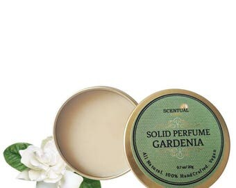 Gardenia Solid Perfume, Organic Gardenia Perfume Bar, Vegan Perfume, Natural Perfume, Gift Idea