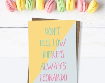 Galentines card, Breakup card, funny card, Leonardo Dicaprio card, encouragement card, friend card, motivational card