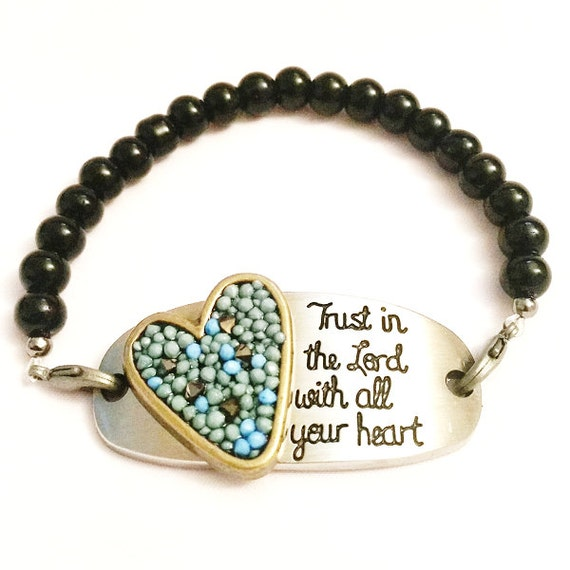 TRUST in the LORD... Quote Bracelet