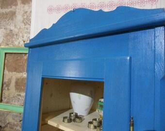 Blue soft wood Dresser