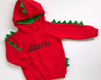 Dinosaur hoodie with name, dinosaur sweater, dinosaur jumper, dinosaur sweater with name, dinosaur birthday hoodie, dinosaur sweatshirt