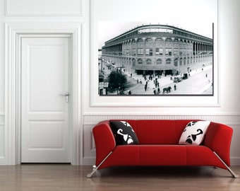 Ebbets FIELD Brooklyn Dodgers Canvas Print - Large 30 x 20 NY Baseball