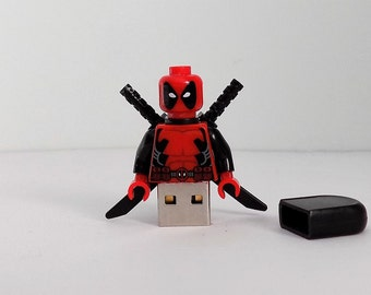 Deadpool  Minifigure 16GB USB Memory stick custom made