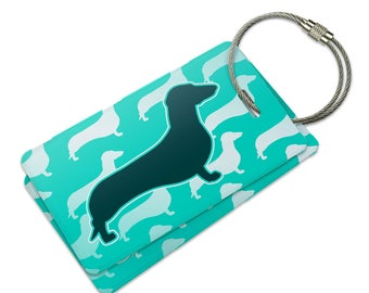 Dachshunds Galore Suitcase Bag Id Luggage Tag Set