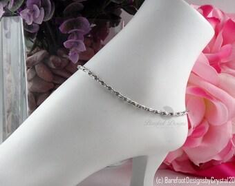 Antique Silver Ankle Bracelet, Silver Ankle Bracelet, Ankle Bracelet, Anklet