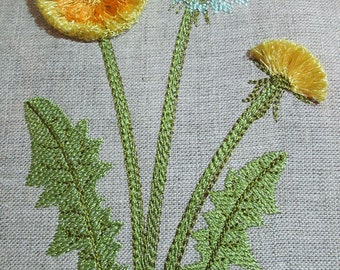 Dandelion_Fringe  - MACHINE EMBROIDERY DESIGN