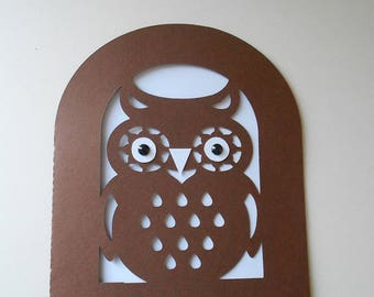 Cut card * little OWL *.
