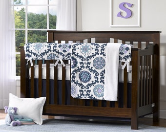 Rosa Berries 4 pc. Crib Set | Bumperless Crib Bedding