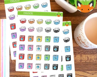 Cleaning Laundry Day - Washing Day Clothes Washing Machine - Planner Stickers