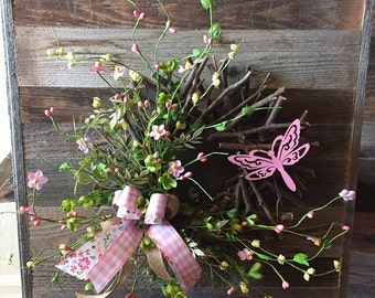 Rustic Dragonfly Spring and Summer Wreath