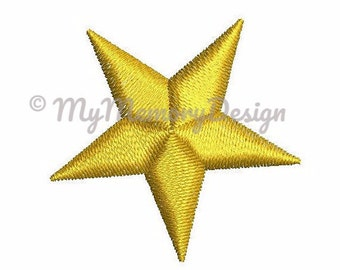Stars embroidery design - Mini star embroidery - Basic star - Machine embroidery design - INSTANT DOWNLOAD - 5 SIZE