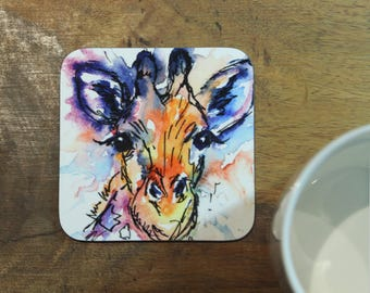 Giraffe coaster, Gemma the giraffe coaster, giraffe, table coaster