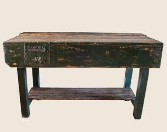 Vintage Wooden Workbench