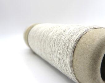 Linen Stainless Steel Yarn - White / Linen Steel / Linen Steel Yarn / Lace Weight / Habu Yarn / Knitting / Crochet / Weave / Scarf / Habu
