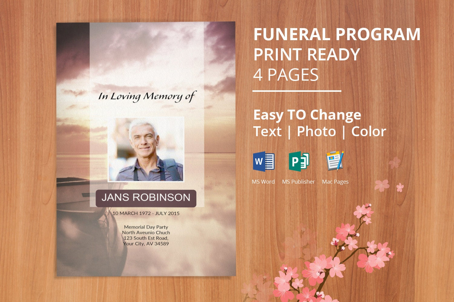 Captivating Free Printable Funeral Order Of Service Template Google Docs Pictures Gallery
