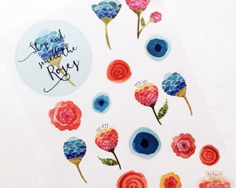 Fish scale Flowers Kit | Decor| Stickers
