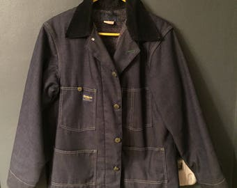 OshKosh Denim Blanket Lined Chore Jacket Vintage 70s