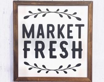 Market Fresh   Wood Sign   Farmhouse   Kitchen