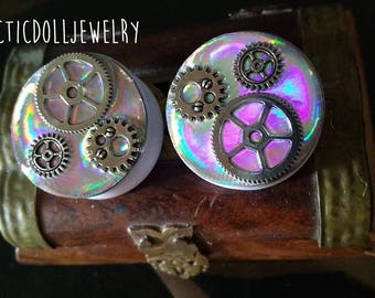 Pair of 30mm holographic plugs & gears