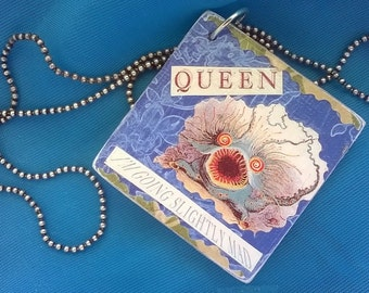 """Queen """"I'm Going Slightly Mad"""" Album Cover Decoupage Necklace"""
