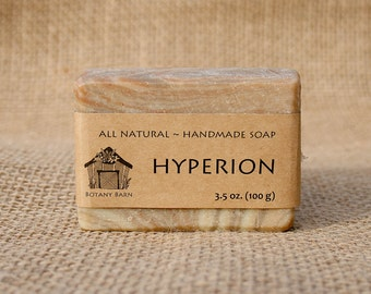 Hyperion Soap - Cedarwood, Pine, Juniper Berry Scented Soap, All Natural Soap, Organic Soap, Handmade Soap, Cold Process Soap, Vegan Soap