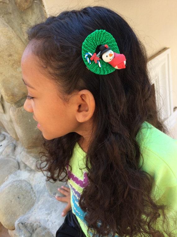 Wreath Hair Clip Christmas Barrette Clips Kawaii Photo Prop