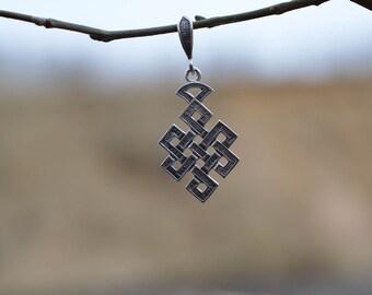Endless Knot. Lucky Knot. Handmade Buddhist Pendant. Dzogchen. Tibetan Buddhism. Tantric Amulet. Buddhism. Tantra. Тibet. Fortune