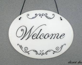 Welcome home sign, front door sign, porch welcome sign, front porch sign, entryway sign, welcome sign, doorway sign, entrance sign.