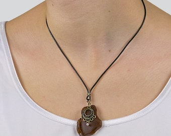 Sea glass necklace «Lagertha»