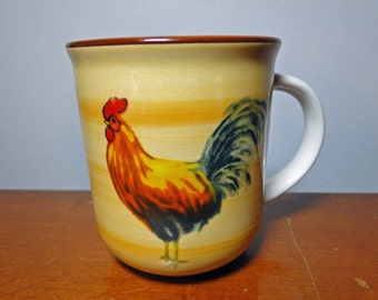 """Oneida Morning Rooster Cup / Mug - 3 3/4"""" Tall Coffee Cup / Mug - Casual Settings By Oneida - Excellent Find!"""