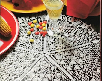 208. Vintage crochet  doily UK pattern  in pdf