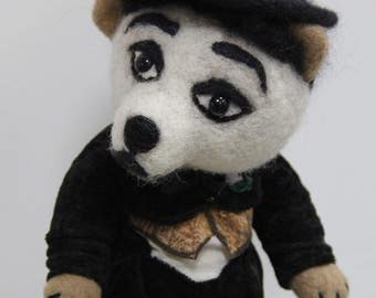 "OOAK Art doll Teddy Bear ""Charlie."" Height 16 inches ( 40 cm).Doll collection."