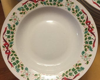 12 Days of Christmas Dinnerware Bowls (12) by Domestications