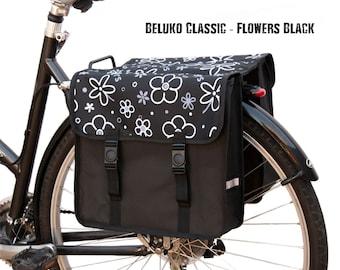 Beluko® Classic Double Pannier Bag Bicycle Cycle Bike Floral Women's - Mens