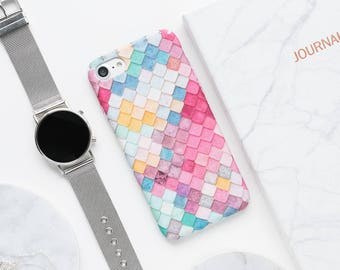 Pastel Tiles iPhone Case iPhone X Case iPhone 8 Case iPhone 8 Plus Case iPhone 7 Case iPhone 7 Plus Case iPhone 6s Case iPhone 6s Plus Case