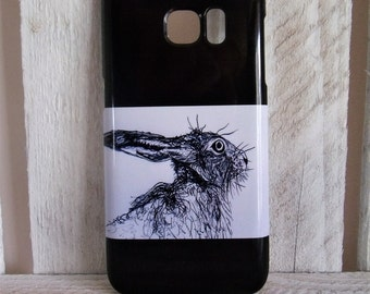 Hare Samsung Galaxy S7 Phone Case Black / White