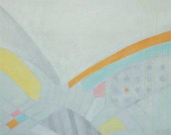 "Maia Fattahi Original Abstract Recovery Acrylic Painting ""Mindscape"" 20""x16"""