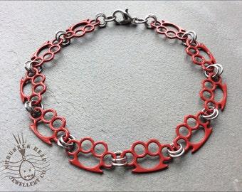 Coloured Knuckle Duster Bracelet