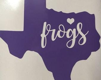 TCU sticker | TCU vinyl | TCU decal | horned frog | Fort Worth | purple | Texas | Sticker |Yeti sticker | car decal | laptop decal