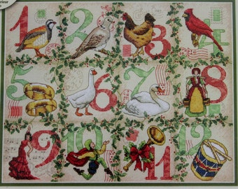 Dimensions Gold Twelve Days Of Christmas Cross Stitch Kit Sampler Debbie DeWitt
