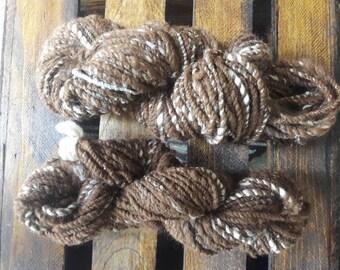 Hand Spun Worsted Huacaya Alpaca Yarn Skeins dye free