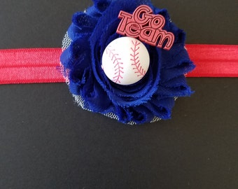 Baseball baby headband