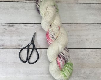 Hand Dyed Speckled Sock Yarn - Spring has Sprung