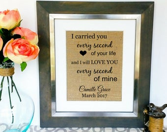 MISCARRIAGE Memorial Print Loss of Baby Newborn Still Born In Memory of Burlap Print Sympathy Gift Loss of Child Son Daughter Personalized
