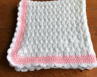Shell Stitch Heirloom Baby Blanket